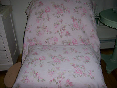Used, Rachel Ashwell 100% Linen Fabric English Garden Coll Pink Roses Shabby Chic 1 Yd for sale  Buxton
