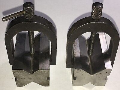 Starrett Matched Set Of No. 278 V-blocks As Pictured Used W Clamps As Pictured