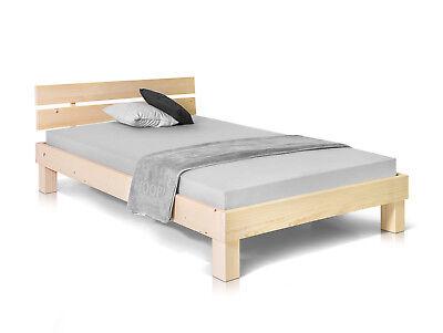 PUMBA Singlebett Bett Futonbett 120x200 Fichte massiv natur Massivholzbett