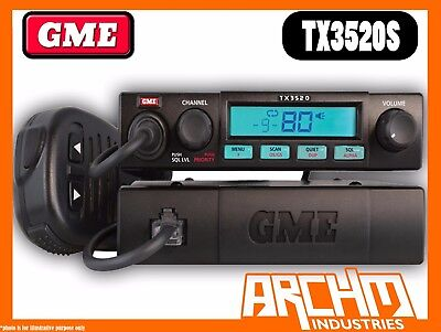 GME TX3520S UHF CB RADIO- 80CH 5 WATT COMPACT REMOTE MOUNT SCAN SUITE ()