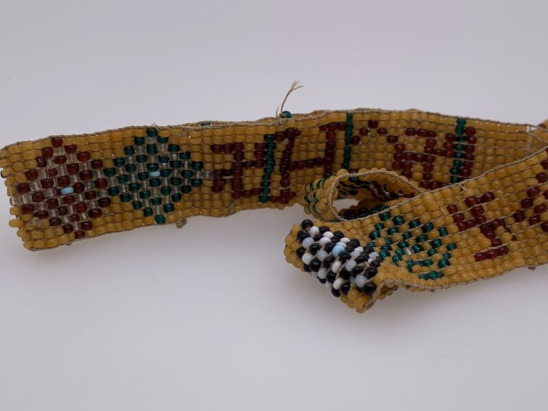 Vintage 1940s Beaded Hat Band