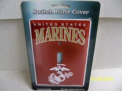 Licensed U.S.M.C., U.S. Marine Corps, metal single light switch plate cover NEW! ()