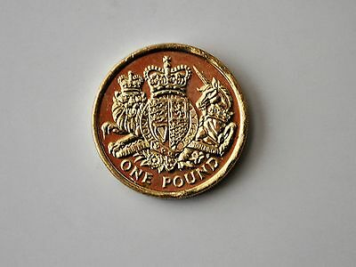2015 One Pound Coin, UK Coat of Arms