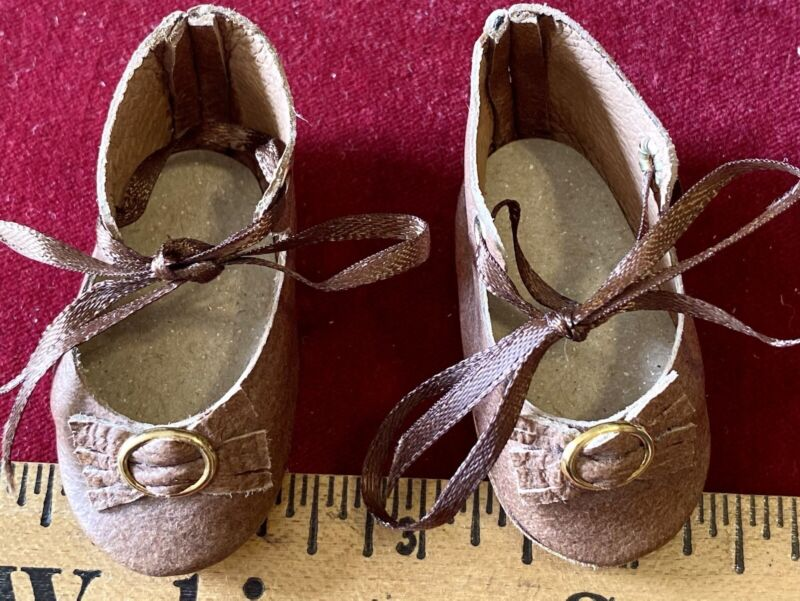 Vintage Doll Shoes For Antique Bisque or Early Doll