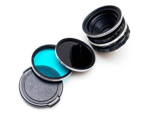 Kyoei Acall Kuribayashi (T-Mount) 35mm F3.5 Lens & Filter Set! UV Photography!