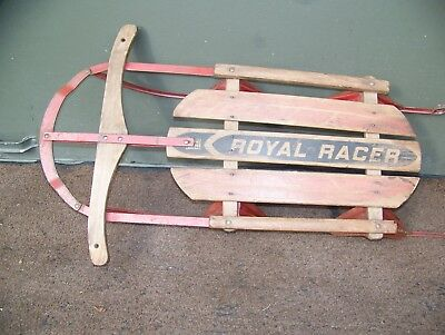 Sleds Snow Tubes Vintage Royal Racer