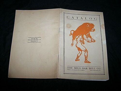 1920~MILO BAR BELL CO., HEALTH AND STRENGTH ADVERTISING BOOKLET CATALOG~40 PAGE