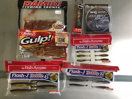 Random bream lures line and plastics