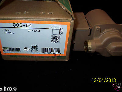 Taco 006-b4 Bronze Circulating Pump 34 Sweat Circulates Water Wood Boiler