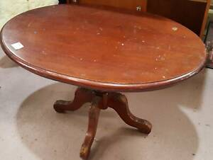 $ 40 Timber Oval Pedestal Coffee Table