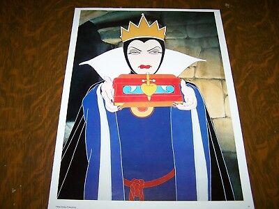 The Disney Poster Book Print 1977 - Snow White - The Evil Queen