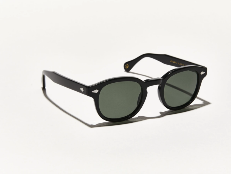 MOSCOT Lemtosh POLARISED Sunglasses. Black. Size 49-24-145. New. Warranty. G15