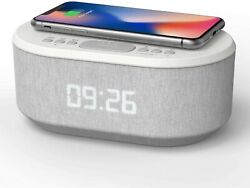 Bedside Radio Alarm Clock with USB Charger, Bluetooth Speaker