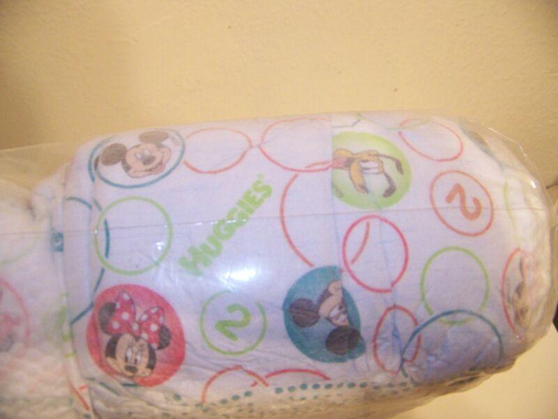 Huggies Disney Mickey Minnie, Goofie 68pk Unopened Bag Size 2