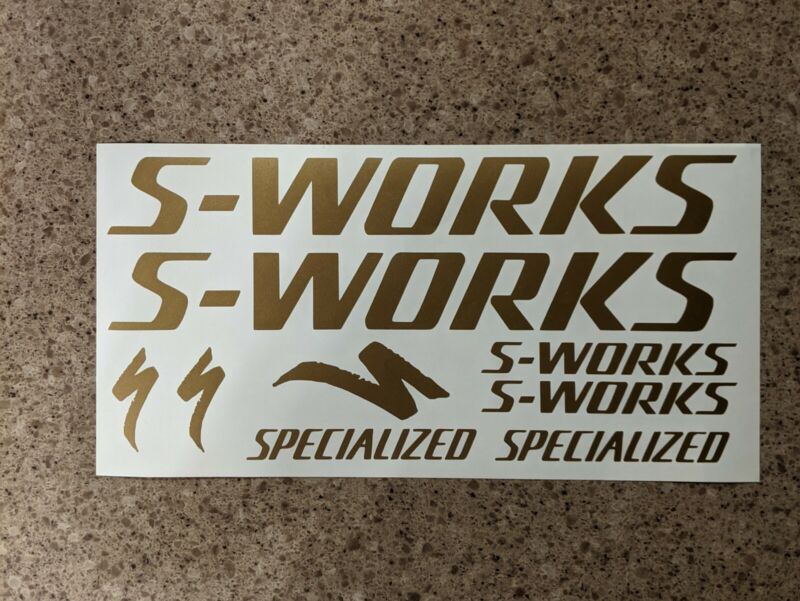 Specialized S-Works Bike MTB Road Decal Sticker Set. 9 Decals