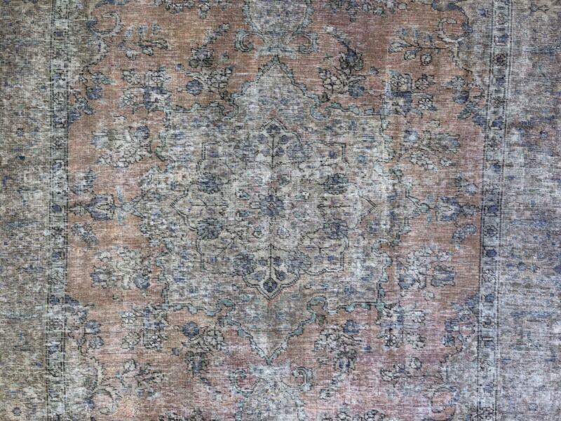 Outstanding Overdye - 1960s Antique Vintage Rug - Floral Carpet - 6 X 8.11 Ft.