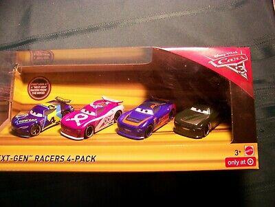 Disney Pixar CARS 3 NEXT-GEN RACERS 4-PACK TARGET EXCLUSIVE Rare