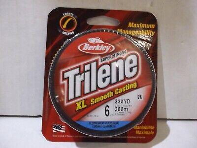 Berkley Trilene XL Smooth Casting 6 LB Fishing Line 330 yds Green LOT 2