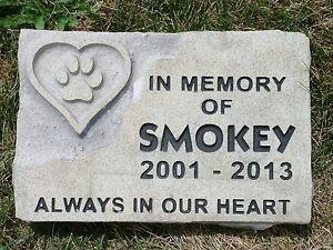 Personalized Pet Memorial Garden Stone Engraved Limestone