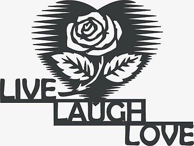 Cnc Vector Dxf Plasma Router Laser Cut Dxf-cdr Vector Files - Live Laugh Love