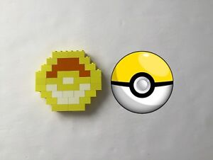 Yellow lego pokeball