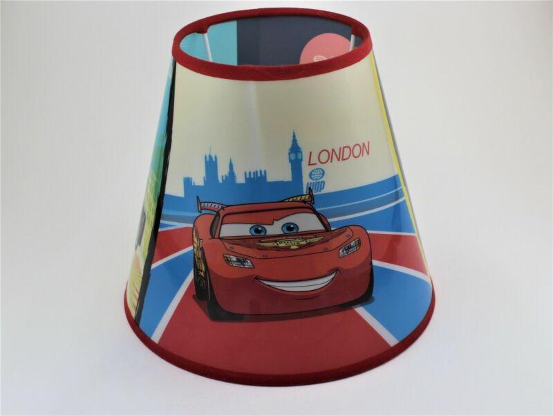 """Disney/Pixar, """"Cars 2"""" plastic lamp shade toButte Gas Pump Tabletop Lamp"""