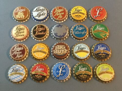 20 Leinenkugel (Leinie's) plastic lined beer bottle caps unused 20 different