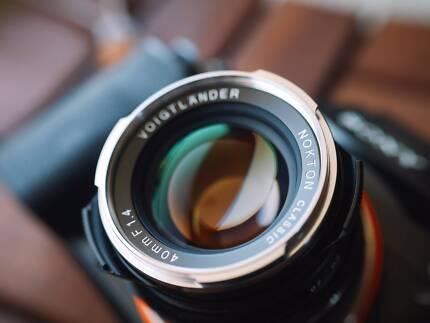 Voigtlander Nokton Classic 40mm f1.4 lens - M mount