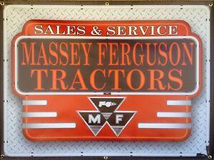 MASSEY FERGUSON TRACTORS DEALER NEON STYLE BANNER SIGN ART NEW DESIGN 4' X 3'