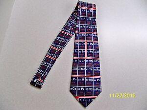 Periodic table tie ebay periodic table of elements chemist chemistry teacher professor mens necktie urtaz Choice Image