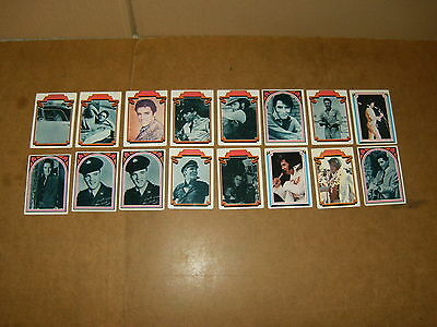 16 anciennes cartes / vintage cards - ELVIS FACTS - ELVIS PRESLEY - BOXCAR 1978