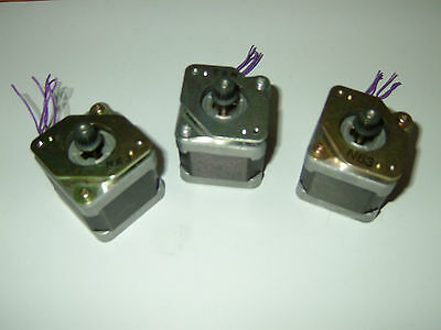 3 Stepper Motor Nema 17 -sanyo Denki Cnc Router Mill Lathe Robot Reprap Makerbot