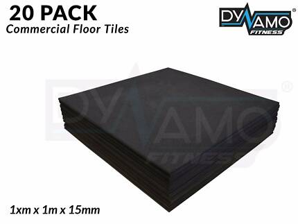 Rubber floor Mat 1m x 1mx 15 mm thickness 20 PACK $29.50 Per Tile