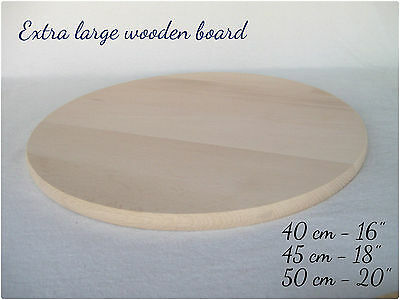 Extra Large XL Wooden Serving Cheese Pizza Cake Round Board ()