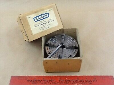 Excellent 4 Craftsman 111.21406 Reversing 4 Jaw 6 618 Lathe Chuck 10 Tpi Box