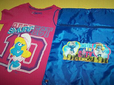 Schlumpfine Smurfs Shirt 13 - 14 J. Kinderrucksack Rucksack  (Schlumpfine Kostüm Kinder)