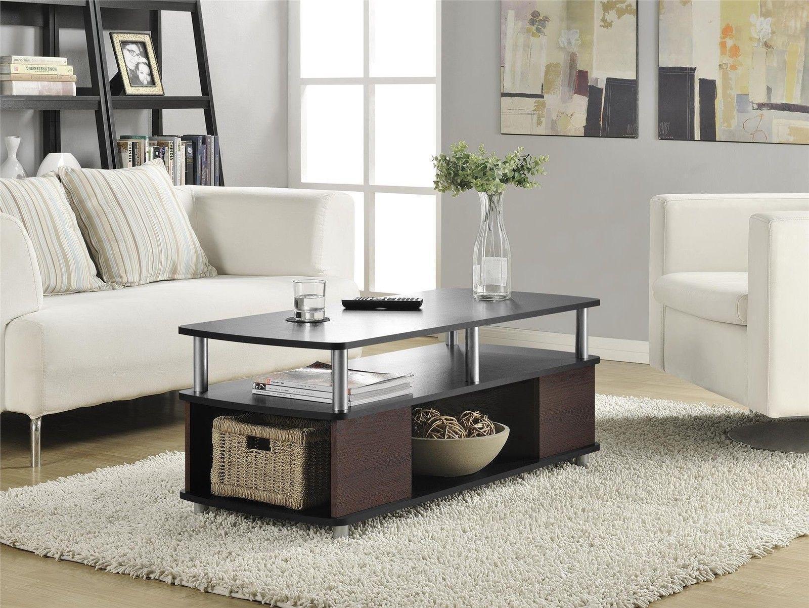 Altra Carson Living Room Furniture Black Cherry Finish Open Storage ...