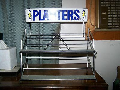Vintage Planters Peanuts Metal Wire Display Rack - Store Counter TWO  Shelf!!