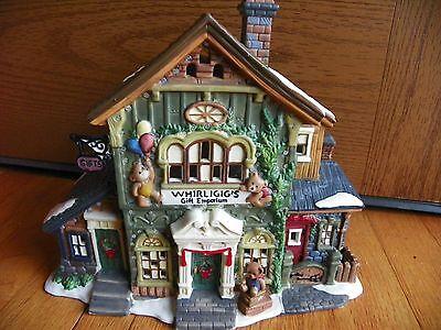 Fiber Optic Gift Boxes ( Fiber Optic 2002 Santa Workbench Whirligig Gift Eporium series original box)
