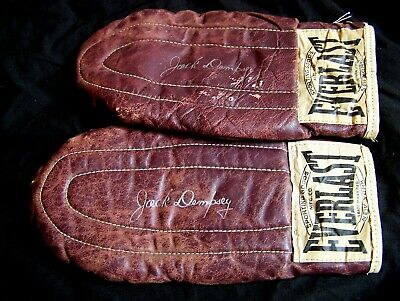 Style Bag Gloves - VINTAGE JACK DEMPSEY STYLE EVERLAST BOXING LEATHER UNWEIGHTED SPEED BAG GLOVES