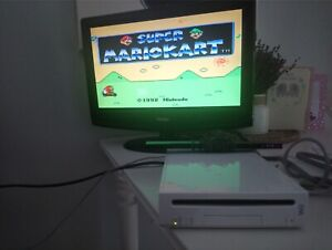 Nintendo wii with all nes and snes games full screen!!!