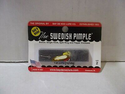 Nickel NEW Bay de Noc Swedish Pimple Jigging Lure 1//10-Ounce 2N