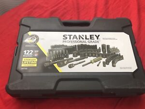 Brand new Stanley 122-piece Black Chrome Socket Set