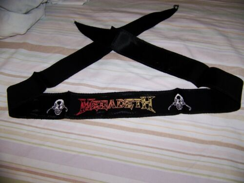 NEW NOS Vintage 1980s MEGADETH Headband Scarf Tapestry Flag Banner Wall Hanging