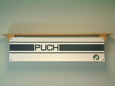PUCH Banner Classic Motorcycle Workshop Moped Garage off road pvc sign