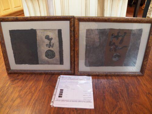 Carlos Roig Original Mixed Media On Handmade Paper   Original price $1016.00
