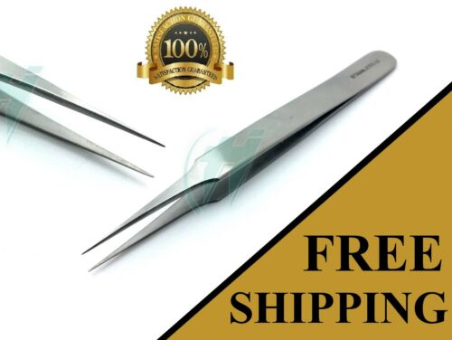 """Swiss Jeweler Style Suture Removal Forceps #4 Smooth Fine Point Tweezers 4.5"""""""