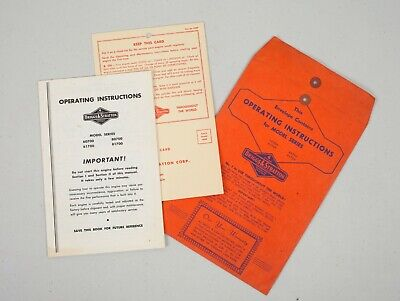 Vintage Briggs Stratton Operating Instructions Model Series 60700 61700