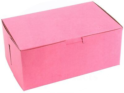 Pink Bakery Box 8 In X 5 In X 3 12 In Clay-coated Non-window - 15 Pieces