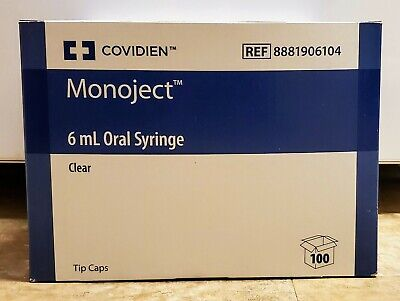 Covidien Monoject 6 Ml Oral Or Tube Syringe Polypropylene Clear Pack Of 100